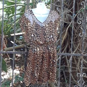 Express Dresses - Sexy leopard dress by Express size small